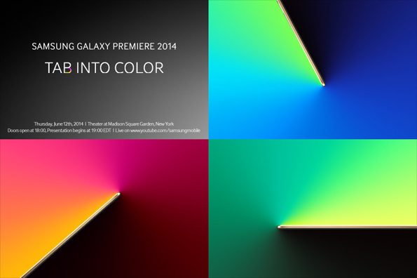 Samsung Galaxy Premiere 2014 - 12 июня представят Galaxy Tab S