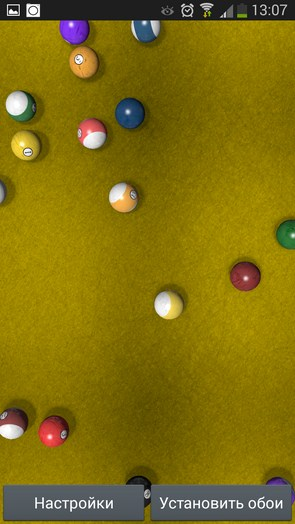 "KF Billiards – ""бильярдные"" обои для Galaxy S5, S4, S3, Note 3, Ace 2"
