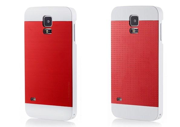 Кейс из поликарбоната Motomo с алюминиевой вставкой дла Samsung Galaxy S5