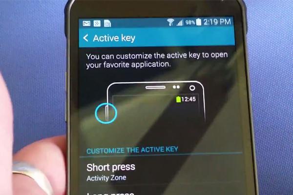 Active Key в Самсунг Галакси С5 Актив