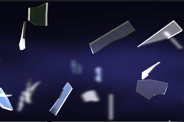 Осколки стекла 3D – витающее стекло для Галакси С5, С4, Нот 3