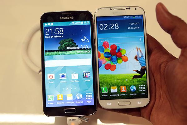 Структура пикселей дисплея в Galaxy S5 лучше, чем в Galaxy S4