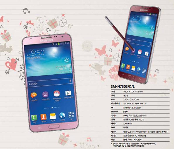 Розовый и красный Samsung Galaxy Note 3 Neo