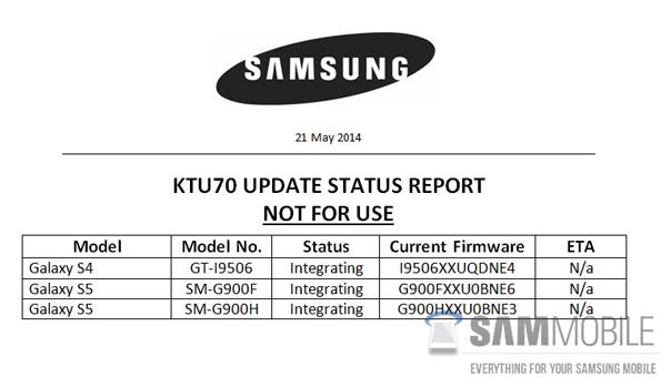 Тестирование Android 4.4.3 для Samsung Galaxy S5 и Galaxy S4 LTE