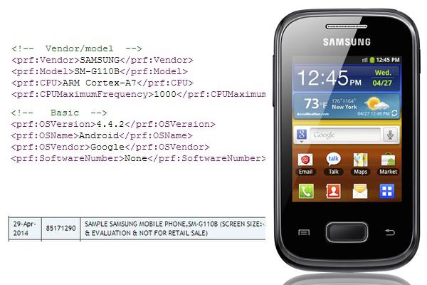 Samsung SM-G110B - новый смартфон с QVGA-дисплеем