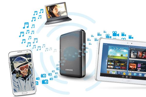 Мультимедийное устройство Samsung Wireless с жестким диском, Wi-Fi и аккумулятором