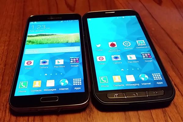 Сравнение дизайна и качества стабилизации видео Samsung Galaxy S5 и Galaxy S5 Active