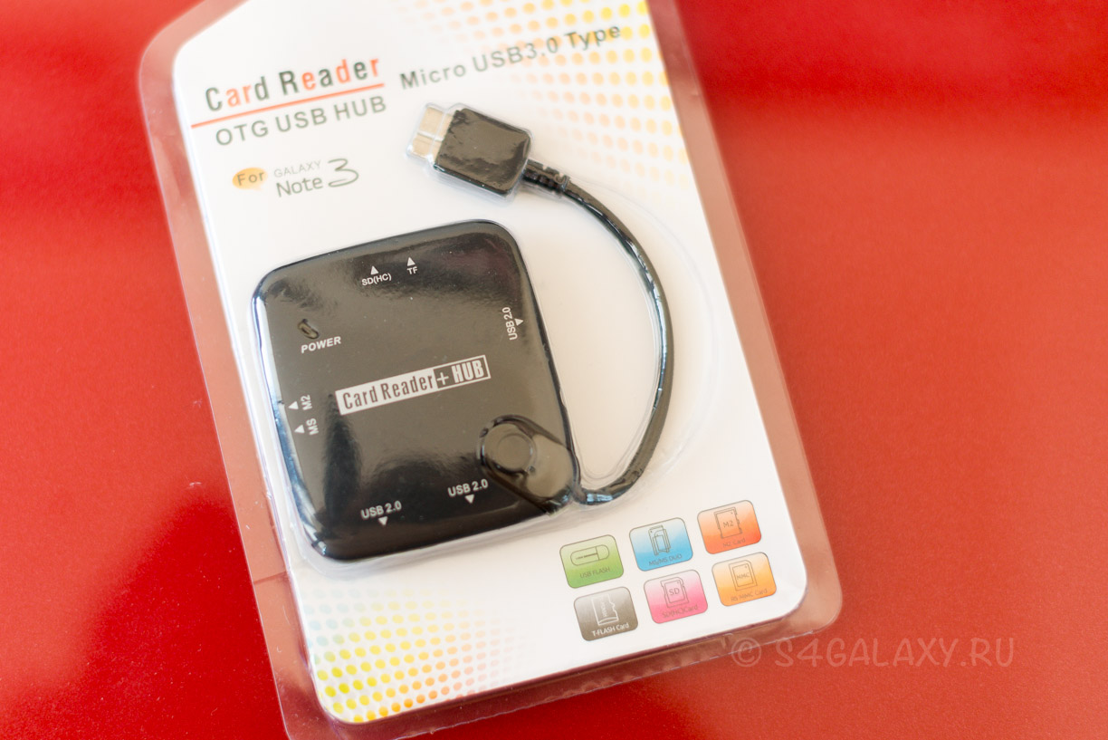 Аксессуар OTG USB 3.0 HUB для Samsung Galaxy Note 3 и Galaxy S5
