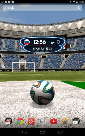 Adidas 2014 FIFA World Cup – футбольные живые обои для Samsung Galaxy Note 3, S5, S4, S3