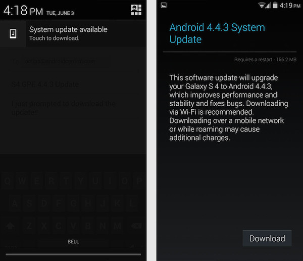 Прошивка Android 4.4.3 для Galaxy S4 Google Play Edition