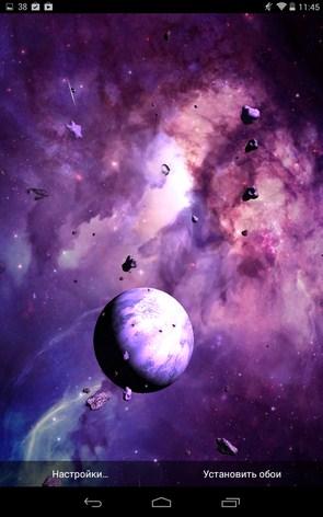 Астероиды 3D – трехмерный космос для Samsung Galaxy Note 3, S5, S4, S3