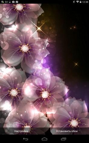 Glowing Flowers – футуристические цветы для Галакси С5, С4, Нот 3