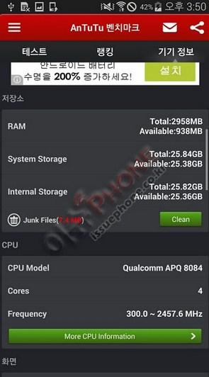 Результаты Samsung Galaxy S5 LTE-A  в тесте AnTuTu
