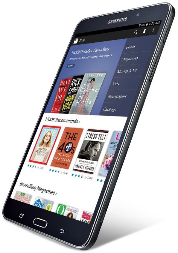 Samsung Galaxy Tab 4 Nook - планшет для любителей чтения