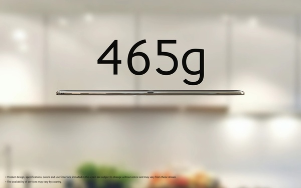 Размеры и вес Samsung Galaxy Tab S