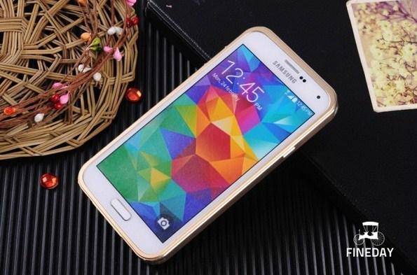 Алюминиевый кейс с кожаной задней крышкой для Samsung Galaxy S5