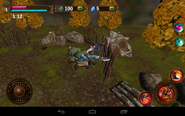 Angry Warrior – воин в ярости для Samsung Galaxy S5, S4, Note 3