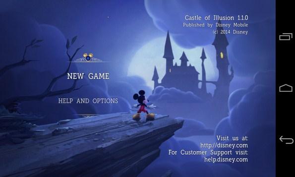 Castle of Illusion - игра-аркада на Самсунг Галакси С4