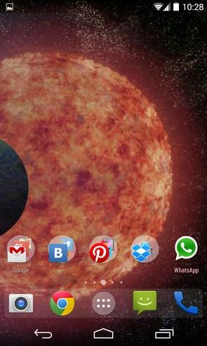 Endless Universe - интерактивные обои на Андроид