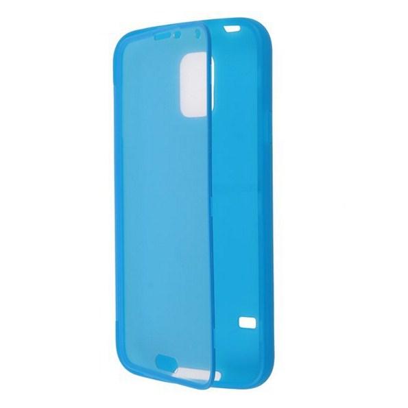 Чехол на Galaxy S5 из силикона с защитой для дисплея