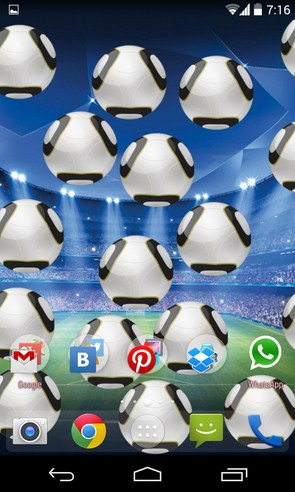 Soccer Touch Live Wallpaper - живые обои на Android