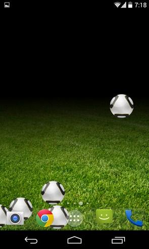 Soccer Touch Live Wallpaper - интерактивные обои на смартфоны Самсунг