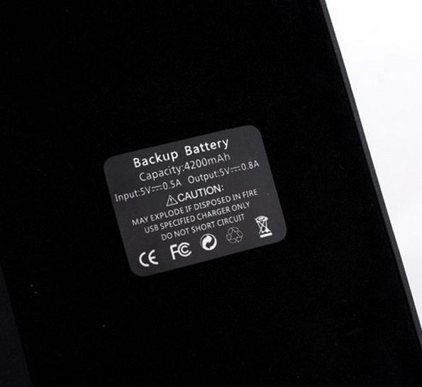 Чехол книжка с аккумулятором на 4200 мАч для Галакси С5
