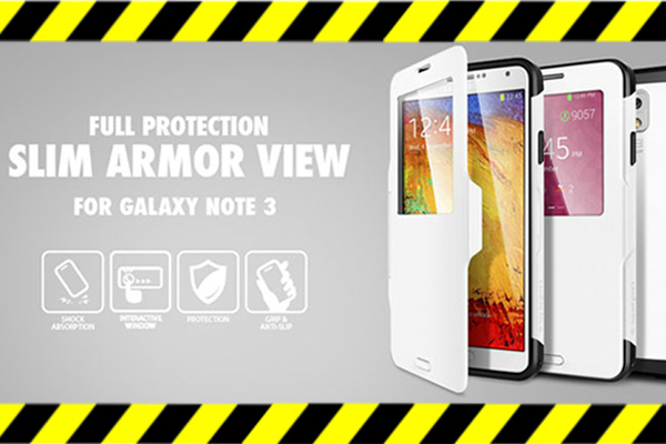 Чехол из поликарбоната с окошком на Samsung Galaxy Note 3