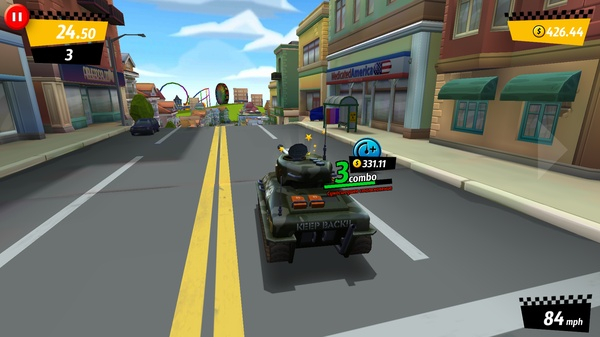 Crazy Taxi: City Rush на танке