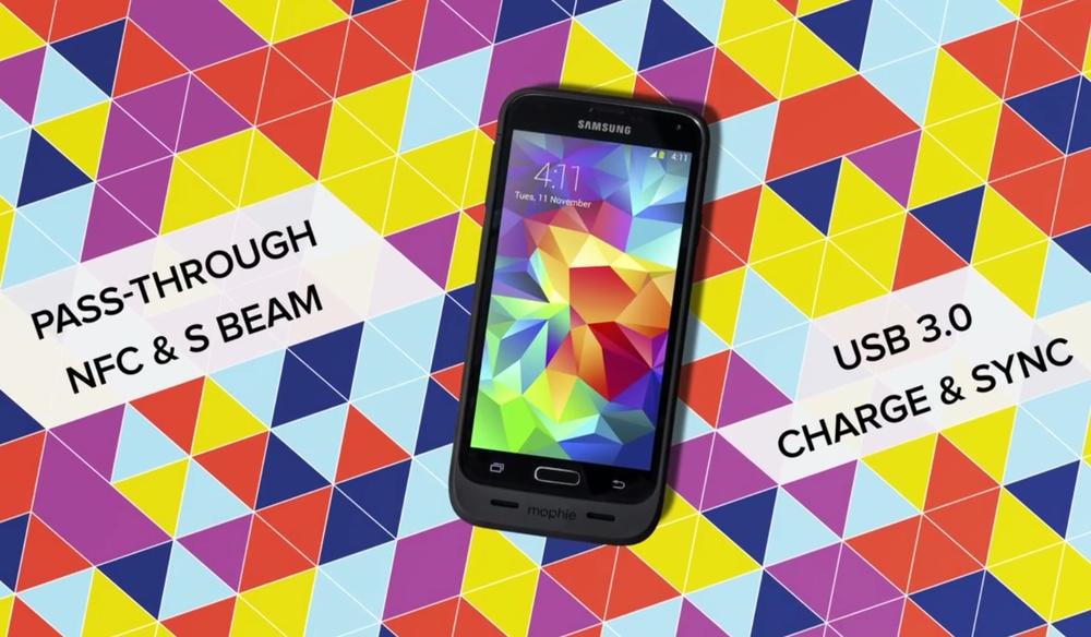 Mophie's Juice Pack для Samsung Galaxy S5 на 3000 мАч