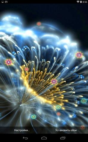Неоновые Цветы – живые обои  для Galaxy S5, S4, S3, Note 3, Ace 2
