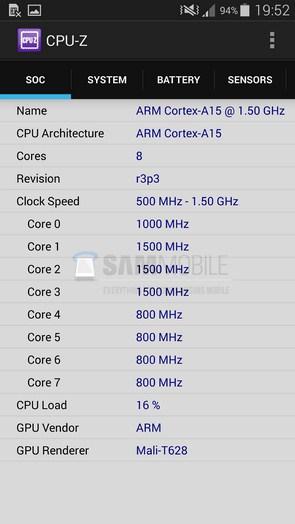 Sasmung Galaxy S5 LTE-A  - тест AnTuTu и CPU-Z