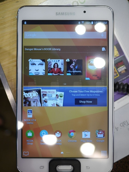 Экран в Samsung Galaxy Tab 4 Nook SM-T230NU
