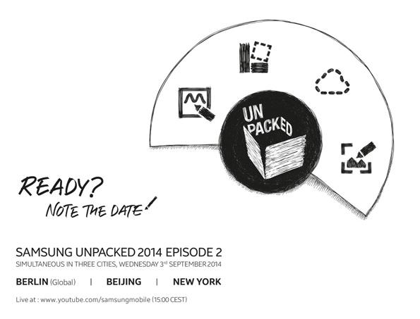 Самсунг Галакси Нот 4 представят 3 сентября на UNPACKED 2