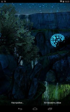 3D Waterfall Night Edition – ночной водопад для Samsung Galaxy Note 3, S5, S4, S3