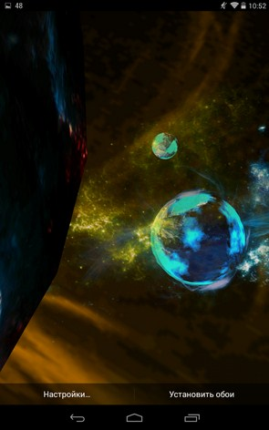 Deep Space 3D – разрушенная вселенная для Samsung Galaxy Note 3, S5, S4, S3