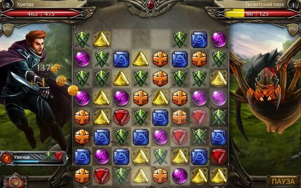 Jewel Fight: Heroes of Legend – сражения в стиле пазлов для Samsung Galaxy S5, S4, Note 3