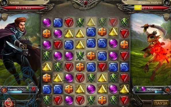 Jewel Fight: Heroes of Legend – сражения в стиле пазлов для Samsung Galaxy S5, S4, Note 3