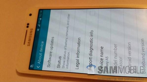 Первые реальные фото Samsung Galaxy A5 (SM-A500)