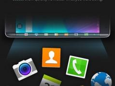 Подробная инфографика для Samsung Galaxy Note Edge