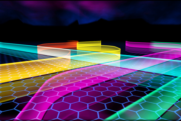 A Neon Path – неоновая дорога для Samsung Galaxy Note 3, S5, S4, S3