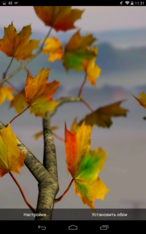"Autumn Leaves 3D XL – ""трехмерная"" осень для Samsung Galaxy Note 3, S5, S4, S3"
