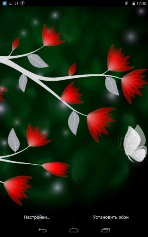 Night Flowers – цветы в ночи для Samsung Galaxy S5, S4, Note 3, Note 4