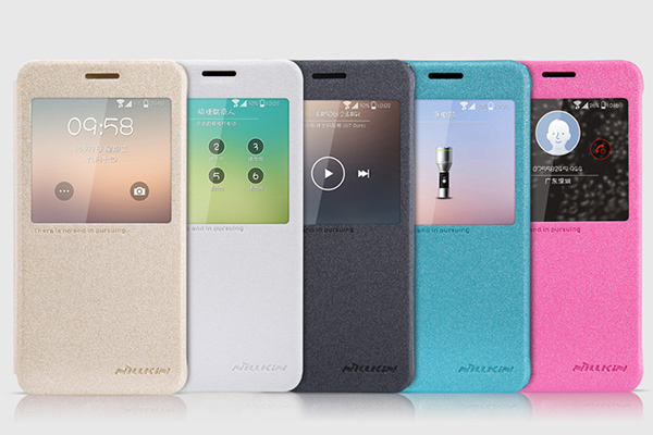 Чехол-книжка с окошком для Samsung Galaxy Alpha из кожи