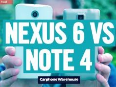 Сравнение Samsung Galaxy Note 4 vs Nexus 6 на видео