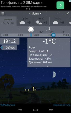 YoWindow – интересная погода для Samsung Galaxy Note 4, Note 3, S5, S4, S3