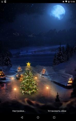 Christmas Village – рождественская ночь в посёлке для Галакси С5, С4, Нот 4, Нот 3