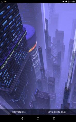 Dark City – мегаполис с высоты для Samsung Galaxy S5, S4, Note 3, Note 4