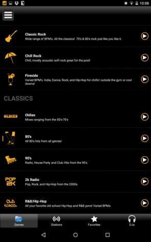 FIT Radio – музыка для спорта для Галакси С5, С4, Нот 4, Нот 3