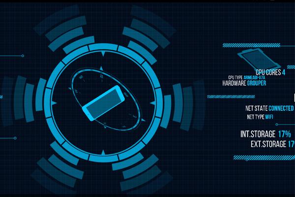 Holo Droid Info – обои-информер для Samsung Galaxy Note 4, Note 3, S5, S4, S3